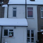 the house in the snow