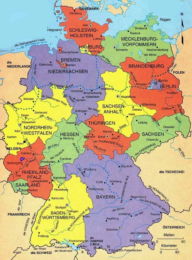 Map Of Germany With Cities World Map - Germany map with major cities