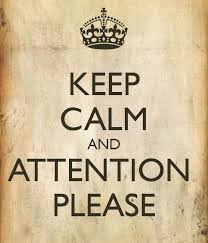 keep calm and attention